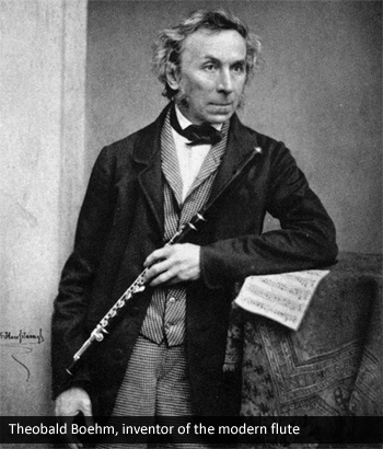 Theobald Boehm, inventor of the modern flute